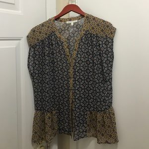 LOVELY! work polyester blouse! Great pattern