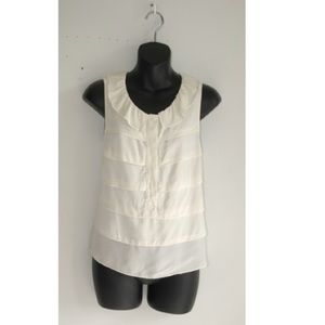 SANDRO layer silk blouse sleeveless