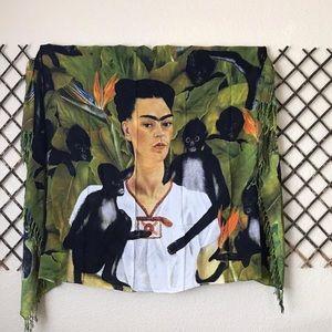 Frida Kahlo Self Portrait Scarf