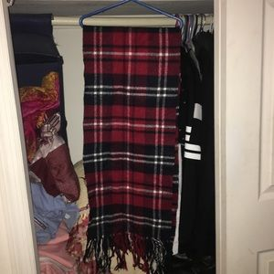 Plaid red scarf