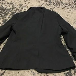 Black Collection Ruched Sleeves Suit Jacket