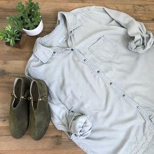 J. Jill Chambray Shirt Button Up 1X