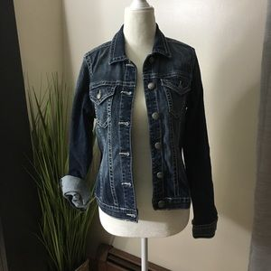 Silver jeans co denim jacket size small