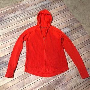Athleta - Orange Zip-front Sweater.