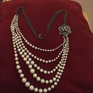 Pearlesque Lariat Necklace