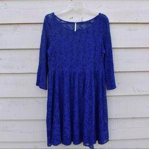 Free People Blue Lace Dress