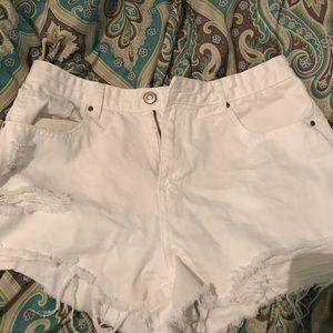 Forver 21 White high waisted shorts