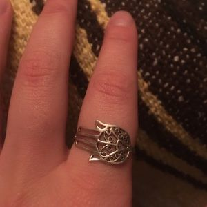 sterling silver hands ring