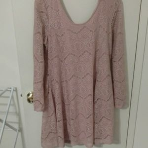 NWOT pink lace dress