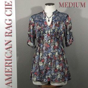 🐣 American Rag CIE Floral Tie Blouse