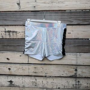 Forever 21+ Silver Metallic Shorts Size 2X