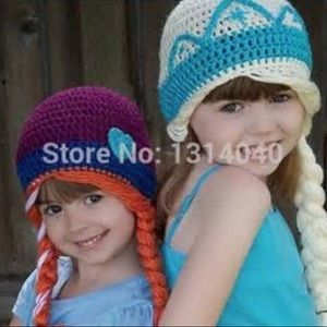 Other - Frozen Hats Elsa or Anna infant or toddler