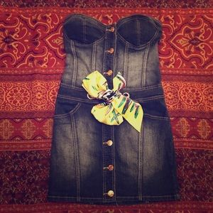 Baby Phat Tube Dress w/ Rhinestone Buttons