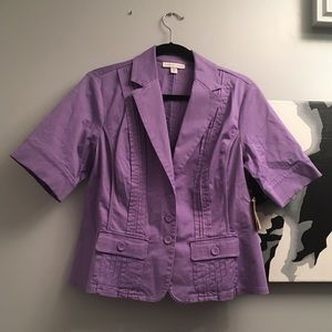 Coldwater Creek Orchid SS jacket size 12- NWT!