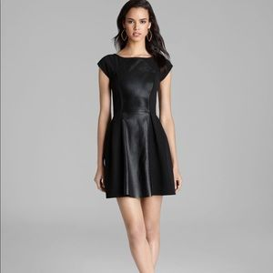 Plenty by Tracy Reese Leather Fit & Flare Dress