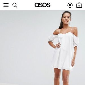 ASOS cold shoulder mini dress