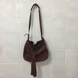 Lucky Brand 1990 Leather Bucket Shoulder bag