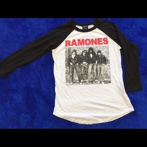 Ramones raglan baseball three-quarter baseball tee