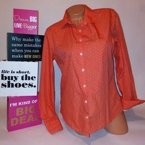 Lands End Womens Button Front Shirt