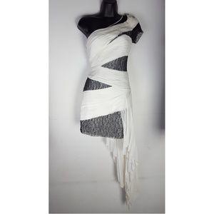 BCBG MaxAzria runway oneshoulder dress