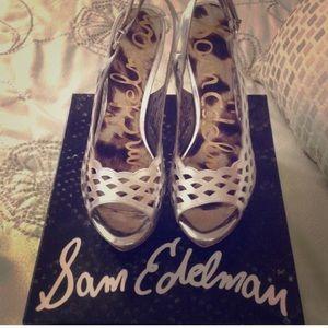New Sam Edelman silver heels
