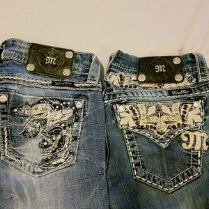 2 pairs of Miss Me Jeans size 26