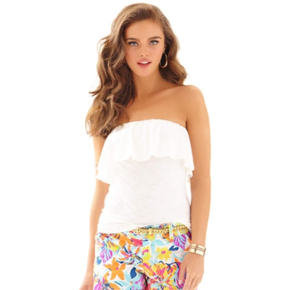95919f9f95 Lilly Pulitzer Tops - Lilly Pulitzer Wiley Ruffle tube top