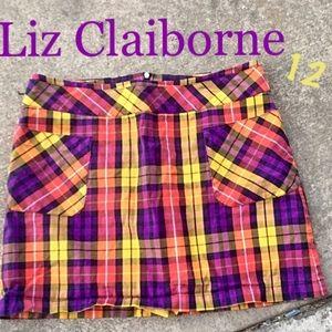 Plaid Skort by Liz Claiborne Size 12
