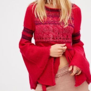 FREE PEOPLE  Craft Time Ribbon Sweater