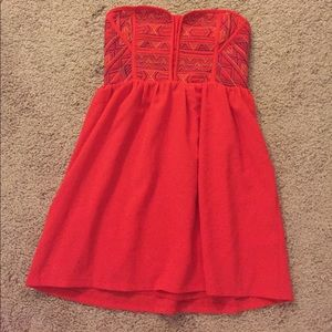 Urban outfitters Strapless red Dress Sz Small