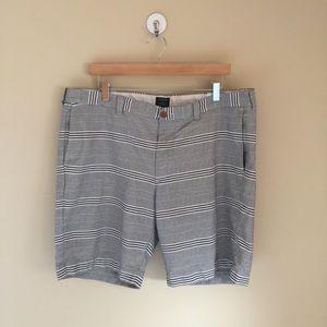 JCrew Gramercy Mens Striped Shorts 38W