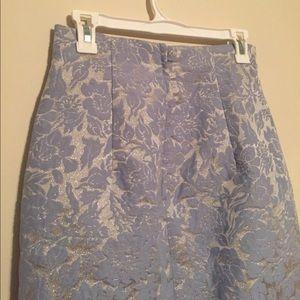 🆕 NWT H&M Floral Pastel Blue Pencil Skirt