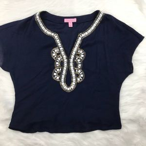Lilly Pulitzer cropped blouse Embellished