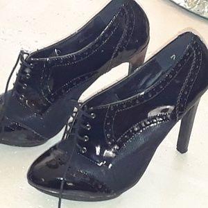 Just Fab high heel oxford bootie