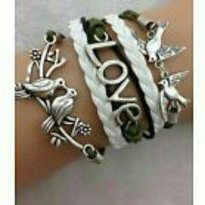 Jewelry - Love Leather Charm Bracelet