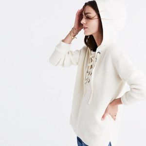 Madewell Lace-up Hoodie Sweater
