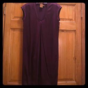 Plum silk dress