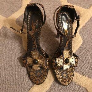 Yves Saint Laurent brocade sandals size 40