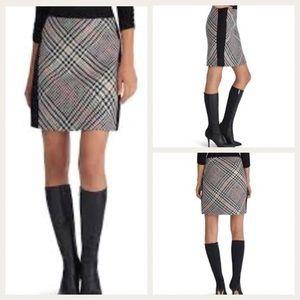 WHBM Tweed Plaid Houndstooth Pencil Skirt