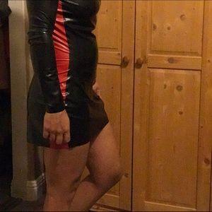 Dresses & Skirts - Latex mini dress