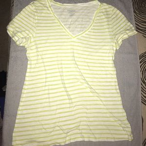 Old Navy Vintage style lime striped tee