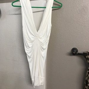 Off white ruched tank