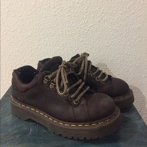 Brown lace-up Doc Martens Air Wair