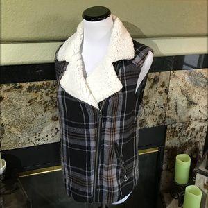 Lucky Brand Flannel vest