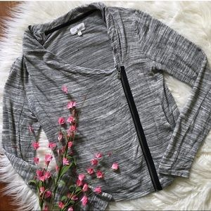 Lou & Grey soft fitted moto cardigan jacket