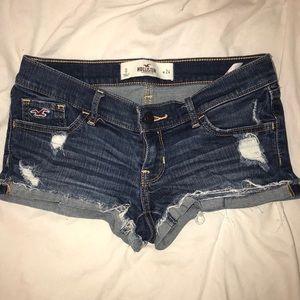 Hollister shortie denim shorts