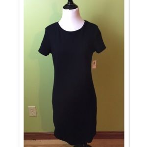 NWT Old Navy Black Short Sleeve Cotton Dress Small