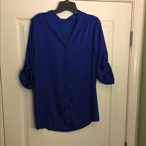 The Limited royal blue blouse