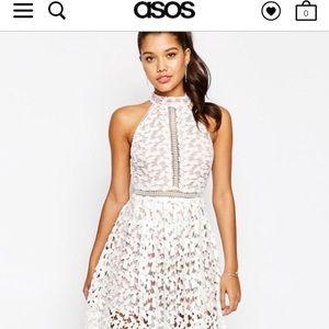ASOS love triangle high neck midi dress
