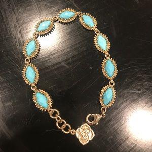 """Kendra Scott """"Jana"""" Bracelet in Turquoise"""